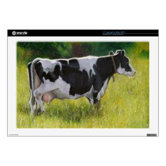 Holstein Dairy Cow: Oil Pastel Painting Laptop Skins