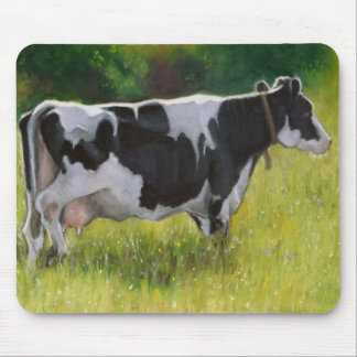 Holstein Dairy Cow: Oil Pastel Painting Mouse Pad