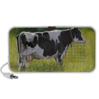 Holstein Dairy Cow: Oil Pastel Painting iPhone Speaker