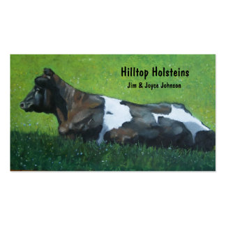 Holstein Dairy Farm Business Card: Art in Pastel Business Card