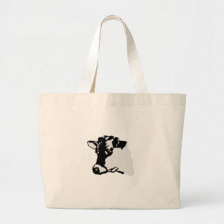 Holstein Head Large Tote Bag