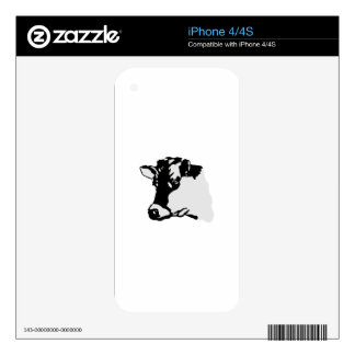 Holstein Head Skins For iPhone 4S
