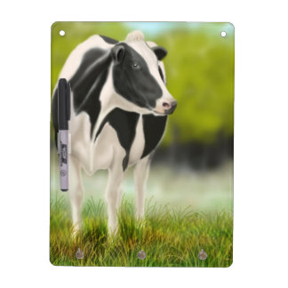 Holstein Milk Cow Dry Erase Board