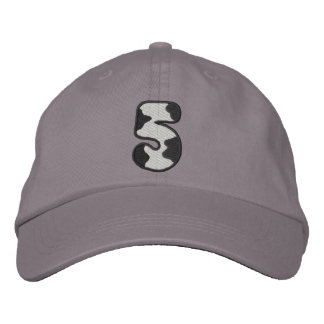 Holstein Number 5 Embroidered Hats