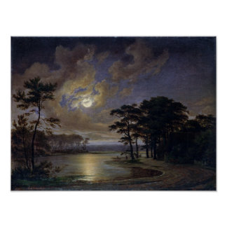 Holstein Sea - Moonlight, 1847 Poster