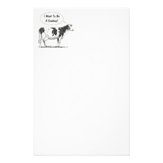 Holstein Thought Cow Customize It Stationery