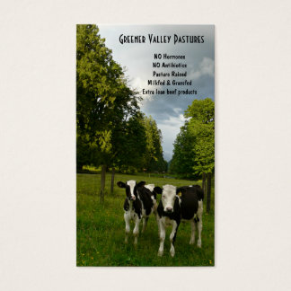 Holstein Veal Baby Beef Farm Business Card