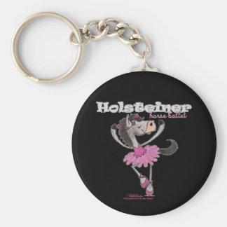 Holsteiner Horse Ballet Basic Round Button Keychain