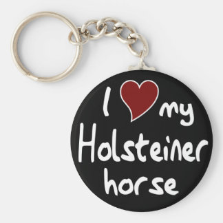 Holsteiner horse basic round button keychain