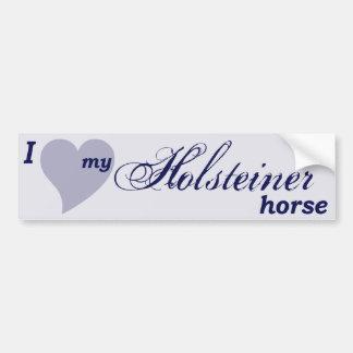 Holsteiner horse bumper sticker