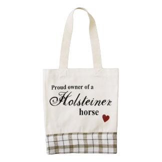 Holsteiner horse zazzle HEART tote bag
