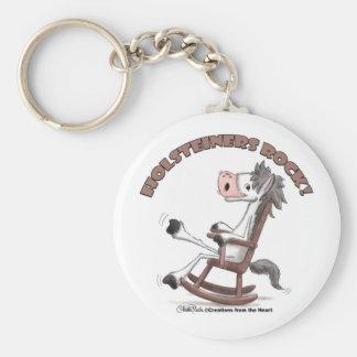 Holsteiners Rock! Basic Round Button Keychain