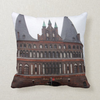 Holsten Gate -  Lubeck Germany Throw Pillow