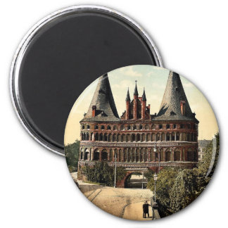 Holstengate, Lubeck, Germany classic Photochrom Magnet