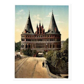 Holstengate, Lubeck, Germany classic Photochrom Postcard