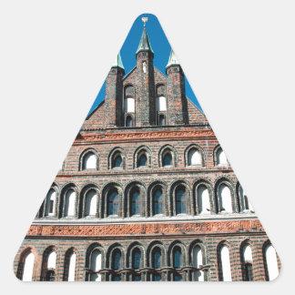 Holstentor in Lübeck Triangle Sticker