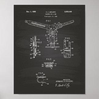 Holster For A Gun 1960 Patent Art - Blueprint Poster