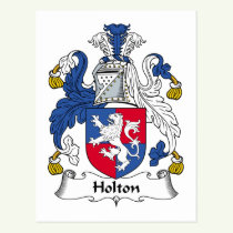 Holton Family Crest Postcard