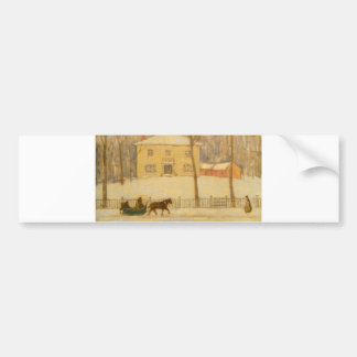 Holtons Old House in Montreal James Wilson Morrice Car Bumper Sticker