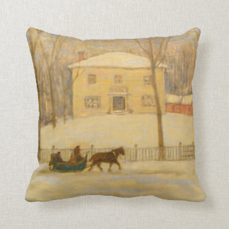 Holtons Old House in Montreal James Wilson Morrice Throw Pillow