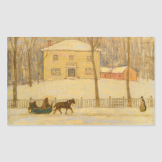 Holtons Old House in Montreal James Wilson Morrice Rectangular Sticker