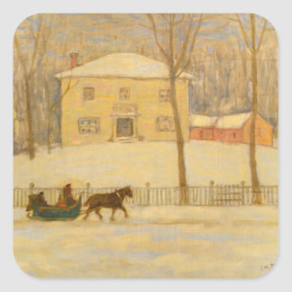 Holtons Old House in Montreal James Wilson Morrice Square Sticker