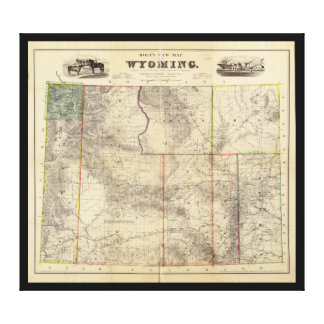 Holt's New Map of Wyoming (1883) Canvas Print