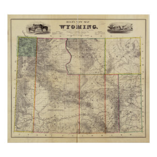 Holt's New Map of Wyoming (1883) Poster