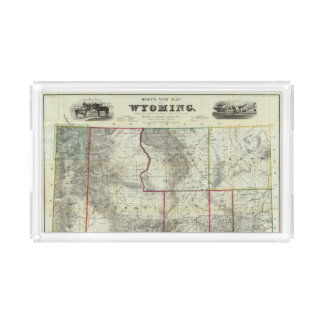Holt's New Map, Wyoming Acrylic Tray