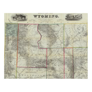 Holt's New Map, Wyoming Panel Wall Art