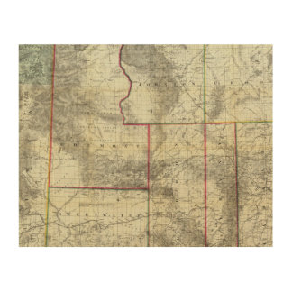 Holt's New Map, Wyoming Wood Wall Art