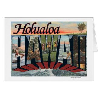 Holualoa, Hawaii - Large Letter Scenes Card