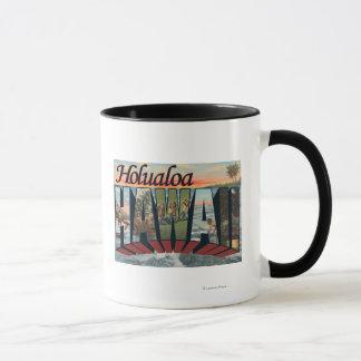 Holualoa, Hawaii - Large Letter Scenes Mug