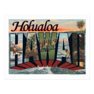 Holualoa, Hawaii - Large Letter Scenes Postcard