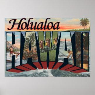 Holualoa, Hawaii - Large Letter Scenes Poster