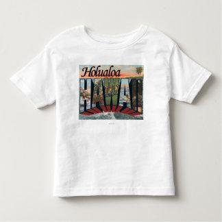 Holualoa, Hawaii - Large Letter Scenes Toddler T-shirt