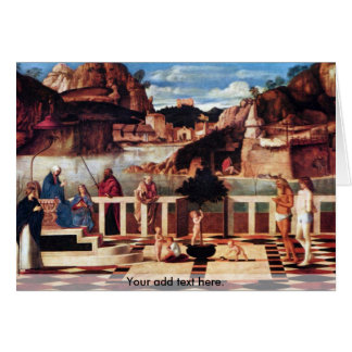 Holy Allegory by Bellini Greeting Card