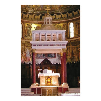 holy alter in church stationery