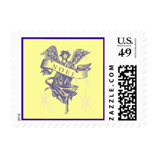 Holy Angel with Noel Banner Christmas Postage