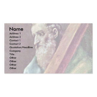 Holy Apostle Andrew By Greco El Business Card