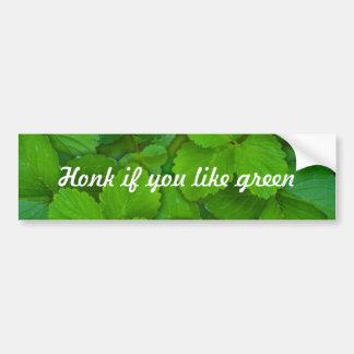 Holy Basil Tulsi Green Mint Leaves Bumper Sticker