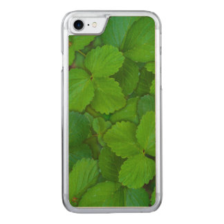 Holy Basil Tulsi Green Mint Leaves Carved iPhone 7 Case