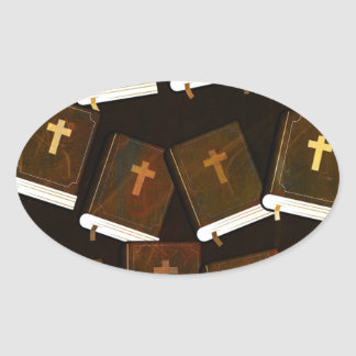Holy Bible abstract ministry Oval Sticker