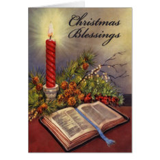 Holy Bible Christian Christmas Card W/verse at Zazzle