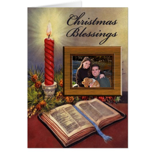 Holy Bible Christian Photo Christmas Card w/Verse