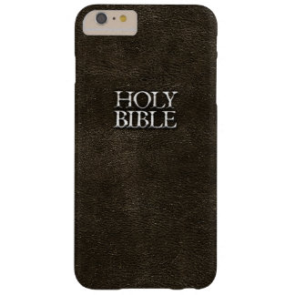 Holy Bible Christian Religion Faux Brown Leather Barely There iPhone 6 Plus Case