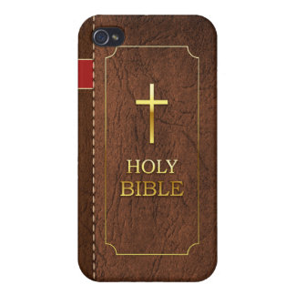 Holy Bible iPhone 4-4s Classic Leather Cover
