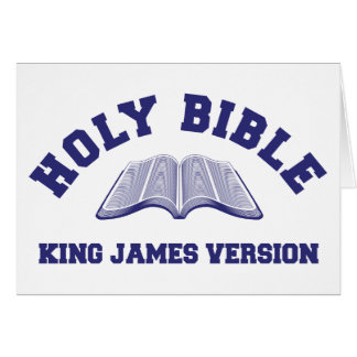 Holy Bible King James Version in blue Card