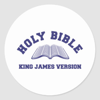 Holy Bible King James Version in blue Classic Round Sticker