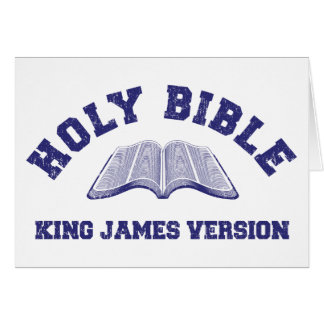 Holy Bible King James Version in blue distressed Card